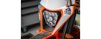 Plaque phare Led pour moto d'enduro